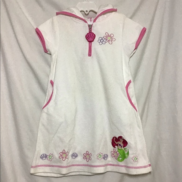 Disney Store Exclusives Other - Girls Hooded Beach Cover-up XS Little Mermaid